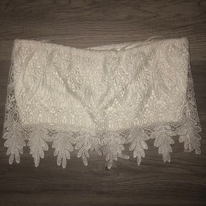 LF lace tube top